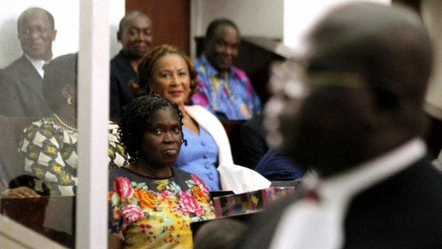 Simone Gbagbo, the former first lady of Ivory Coast, in court.