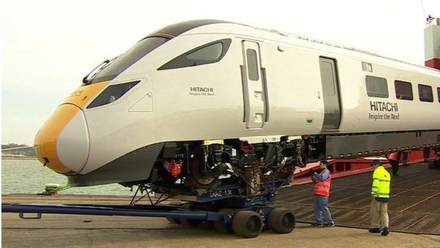 Super Express train arrives in Southampton
