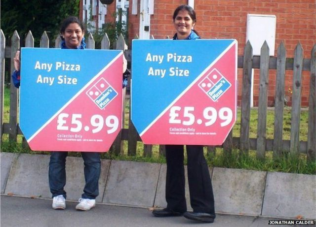 Domino's ends 'degrading' human billboards