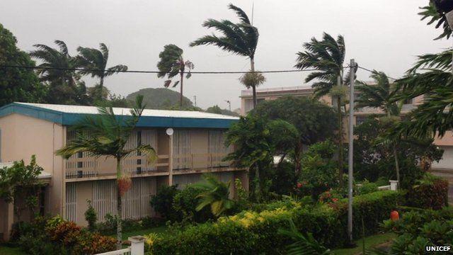 Windy weather in Port Vila