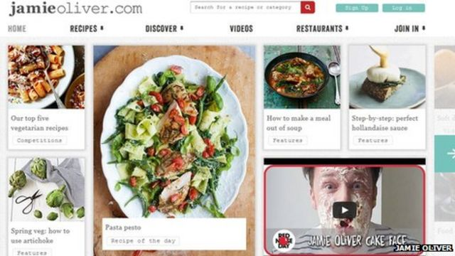 Jamie Oliver site hit by virus for second time