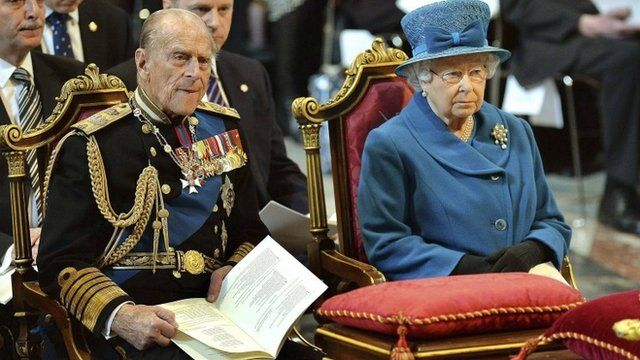 The Queen and the Duke of Edinburgh at St Paul's