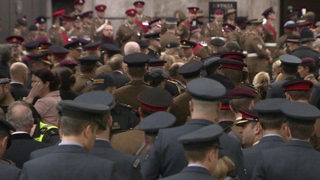 Veterans from across the forces gather for a parade