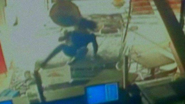 Woman jumps off car bonnet