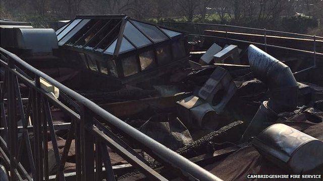 Collapsed roof of Tivoli pub