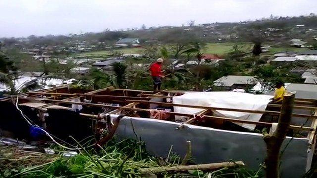 Scene of devastation in Vanuatu