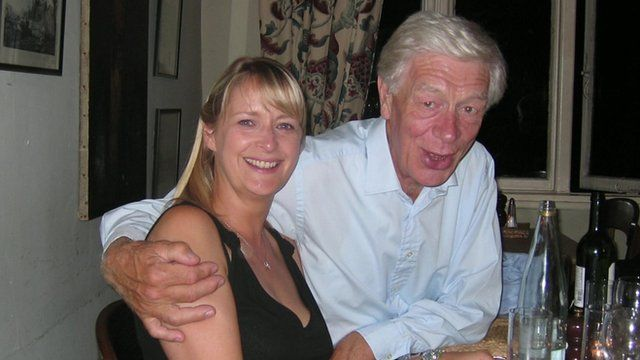 Diana Stephenson and her late father