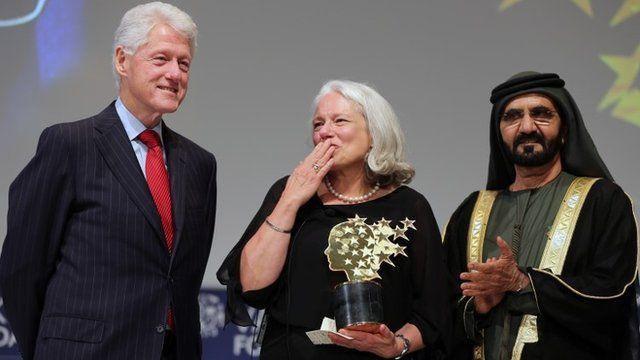 Nancie Atwell awarded prize in Dubai