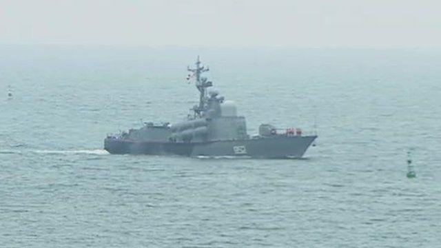 Ship in Sevastopol harbour