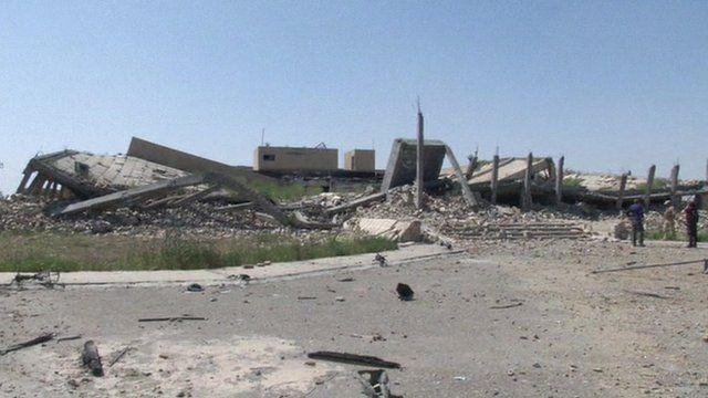 The destroyed mausoleum