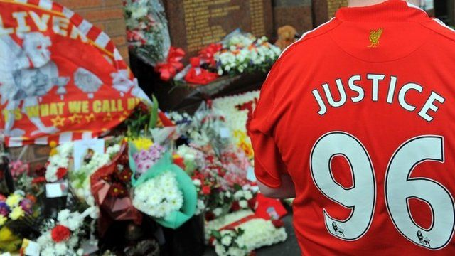 Hillsborough disaster tributes - file image