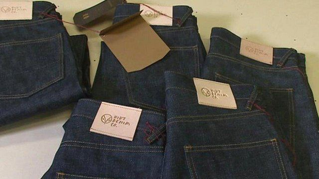 Jeans at the factory