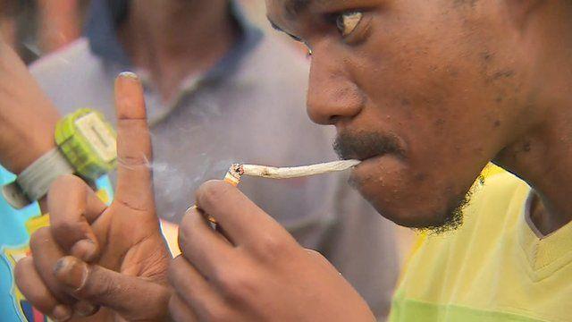 Nyaope being smoked