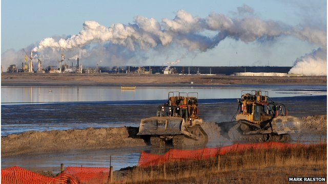 Oil sands mining in Alberta, Canada