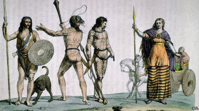 A depiction of the Celtic Queen Boudicca from AD 1. Why are Celts' descendents not a single genetic grouping?