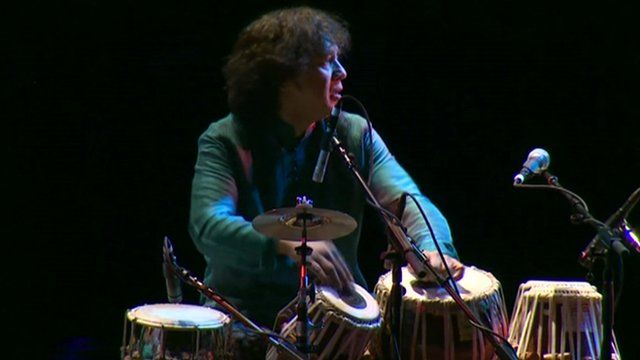 Zakir Hussain combines the classic sound of the tabla with Celtic music