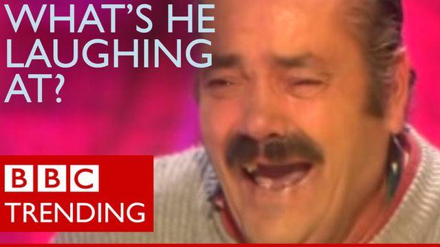 Spanish laughing man