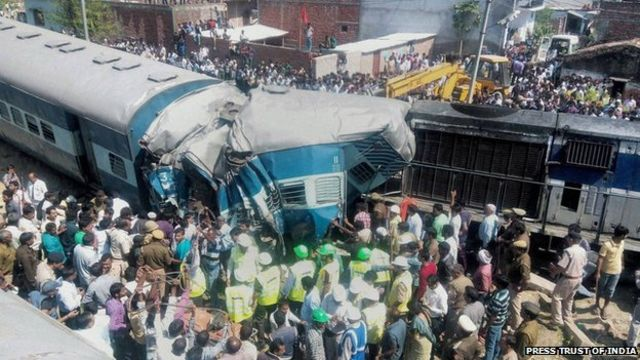 India train accident kills at least 34 in Uttar Pradesh