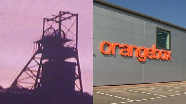 The old colliery and Orangebox