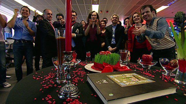 BBC Persian newsroom 'flash mob' to celebrate Iranian new year