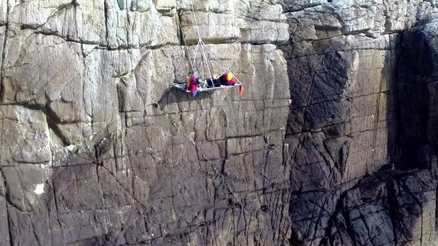 Climber offers cliff-side camping