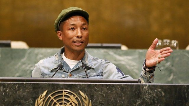 Pharrell Williams at UN