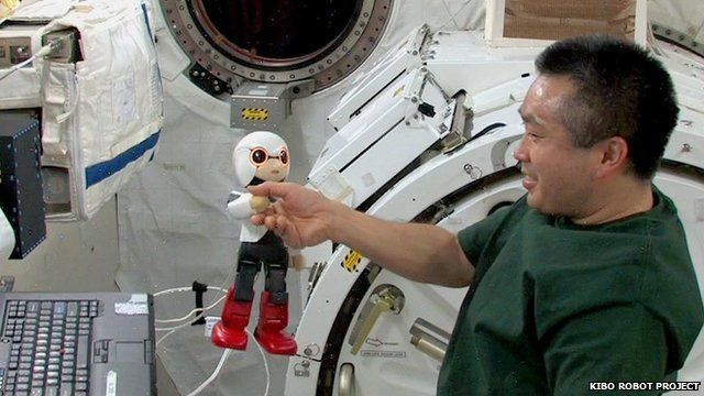 Kirobo robot in space