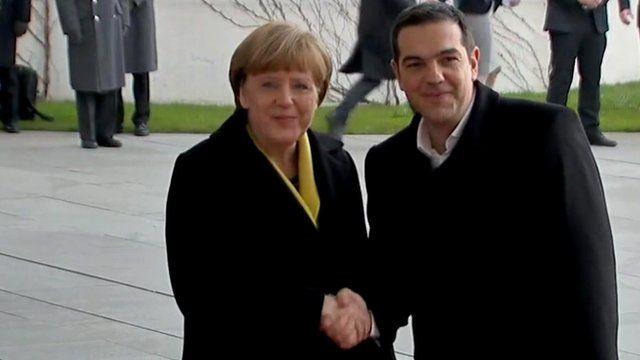Angela Merkel and Alexis Tsipras in Berlin