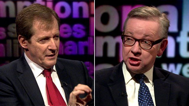 Alastair Campbell and Michael Gove