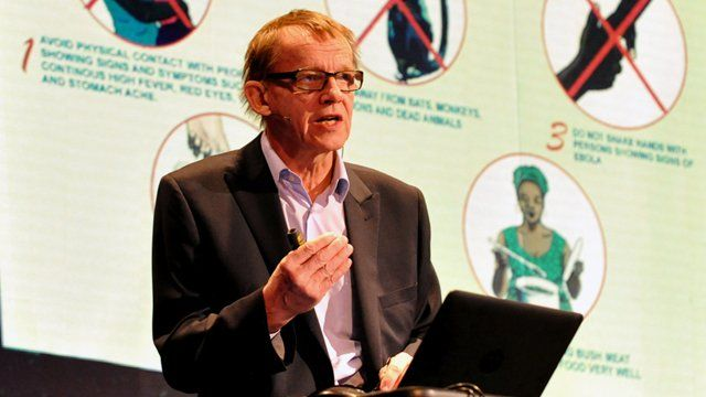 Hans Rosling on stage