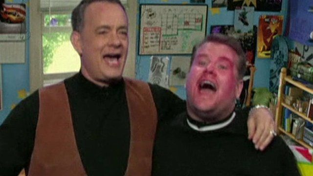 James Corden and Tom Hanks
