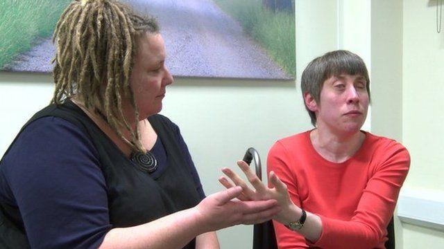 Liz with her signer