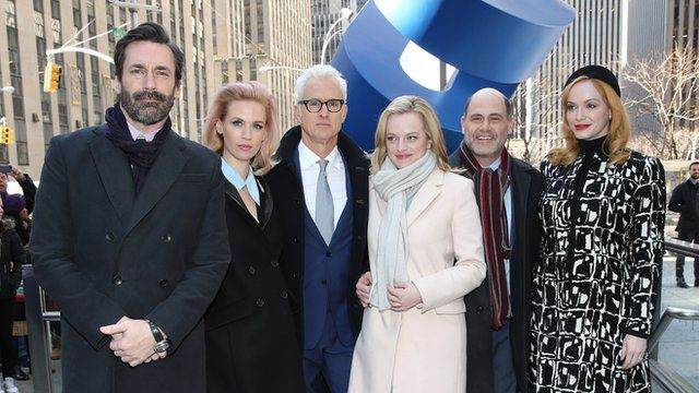 Cast of Mad Men pose for photos in New York