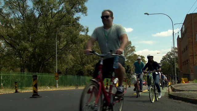 Cyclists in Johannesburg