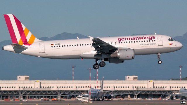 Germanwings plane which crashed, taken September 2 2014