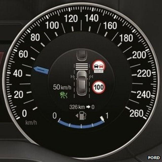 Ford cars slow when they see speed-limit signs