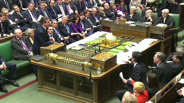 David Cameron speaks at Prime Ministers Questions