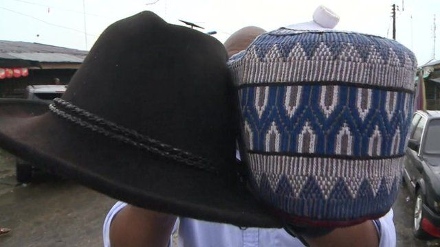 Hats similar to those worn by the Nigerian presidential candidates