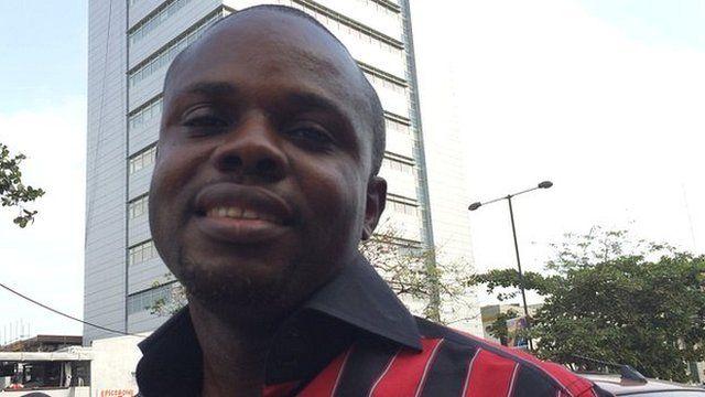 Emeka Iluchukwu, visual artist in Lagos, Nigeria
