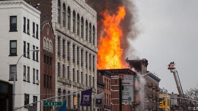 Fire in Manhatten