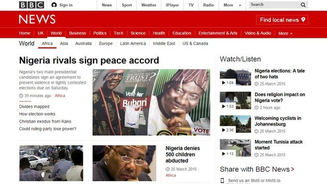 bbcafrica.com launches a live page