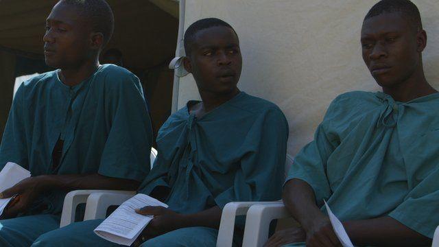 Boys awaiting circumcision