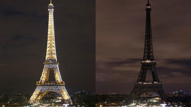 The Eiffel Tower goes dark for Earth Hour