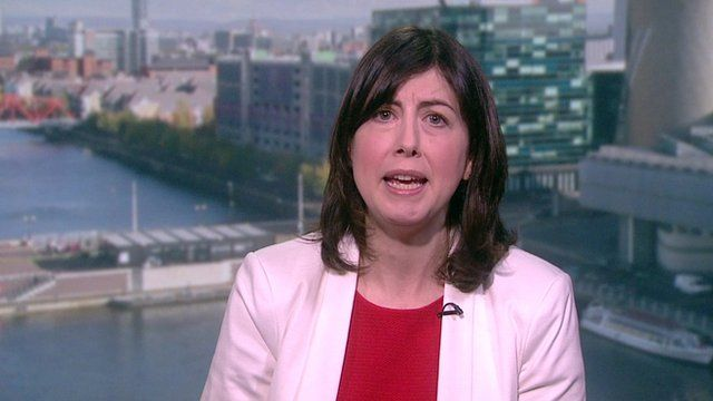 Lucy Powell speaking to Andrew Neil on Sunday Politics