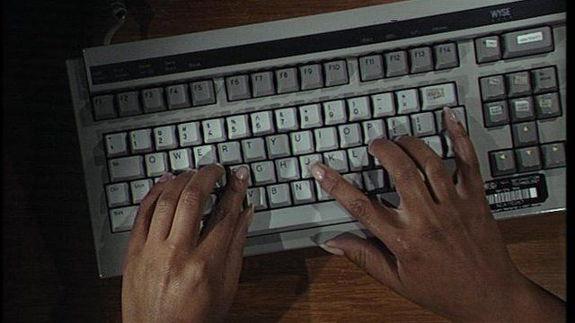 Typing on a computer