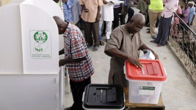 Votes cast in Nigeria