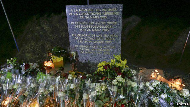 Memorial to Alps Plane Crash victim