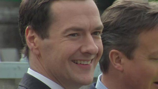 Chancellor George Osborne visiting a brewery in Wolverhampton