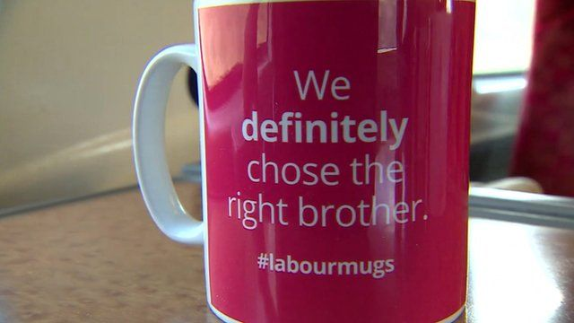 A mug with the slogan 'We definitely chose the right brother'