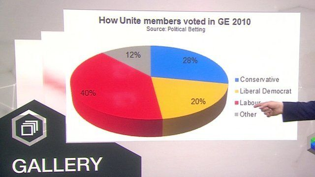 Graphic on how union members voted in 2010